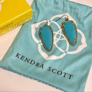 Kendra Scott turquoise arrow earrings